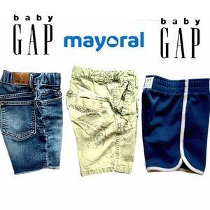 {three pair} 3T boys shorts, Baby Gap & Mayoral